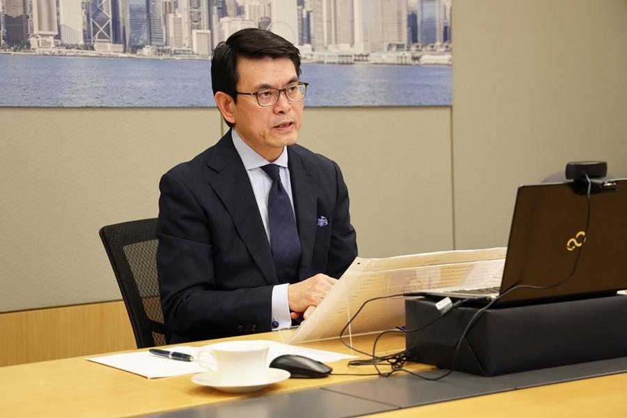 Secretary for Commerce and Economic Development Mr Edward Yau